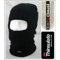 Fordville Mens Acrylic Thinsulate Balaclava - Black